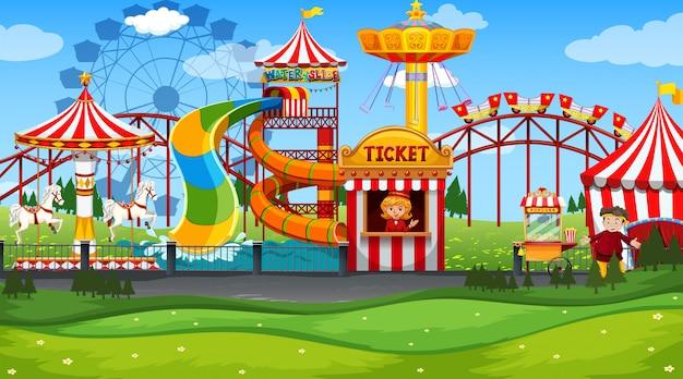 Парк развлечений fun fair пусто Бесплатные векторы