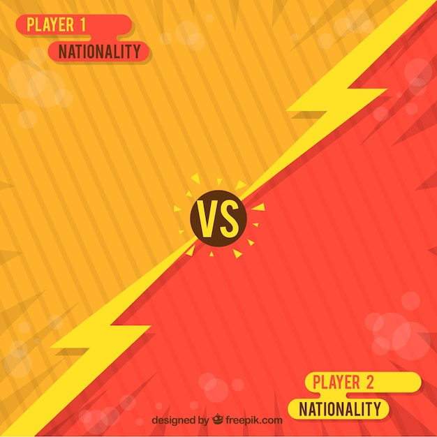 Fun fight video game background Free Vector