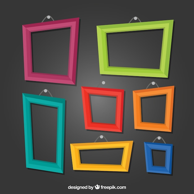 Fun frames Free Vector