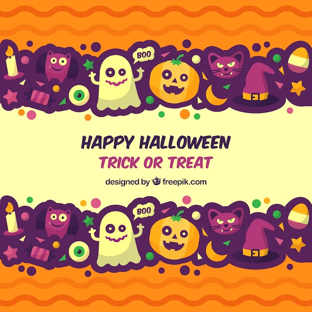 fun halloween background with flat design stock images page