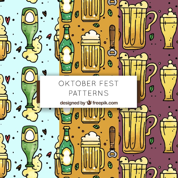 Fun oktoberfest pattern collection