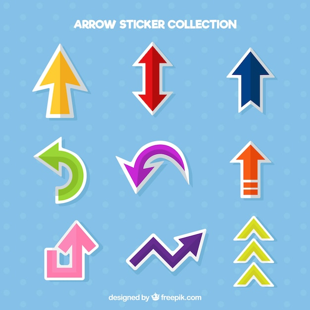 Fun pack of arrow stickers