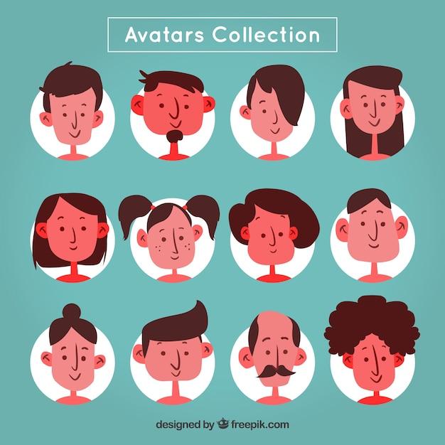 Fun pack of cartoon avatars