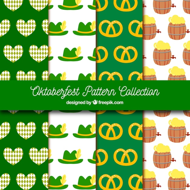 Fun pack of colorful oktoberfest patterns