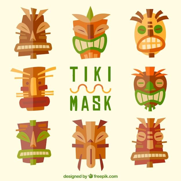 Fun pack of cool polynesian masks