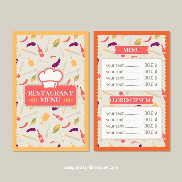 Fun restaurant menu