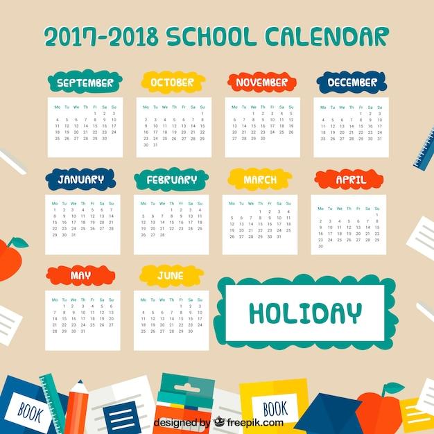 Fun school calendar 2017