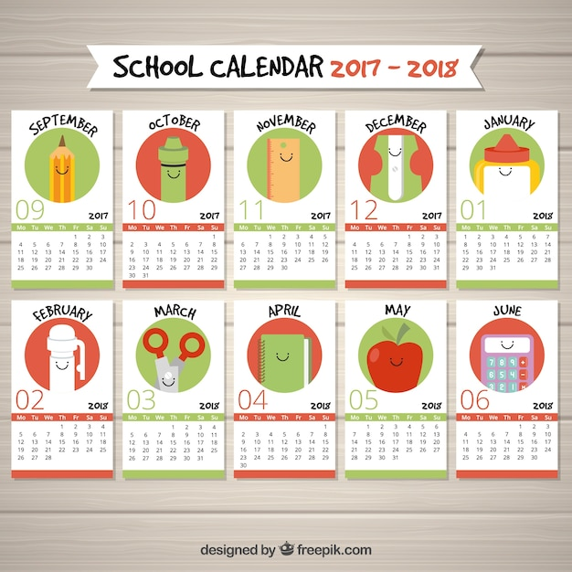 calendar pictures for each month