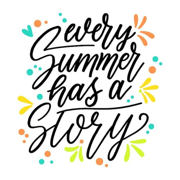 재미있는 여름 글자 무료 벡터