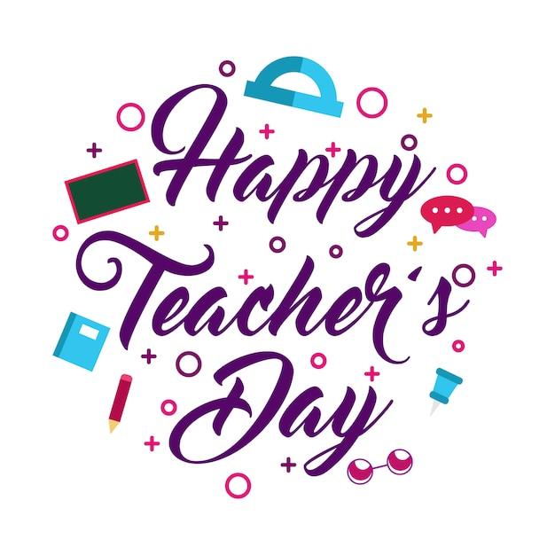 Fun teacher day Premium Vector