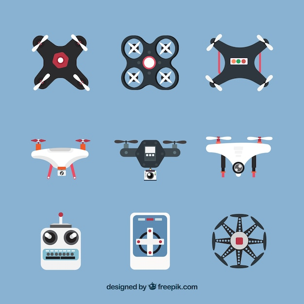 Fun Variety Of Drones Elements