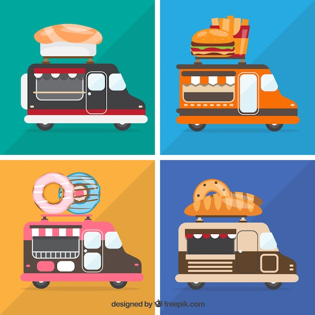 Fun variety of modern food trucks