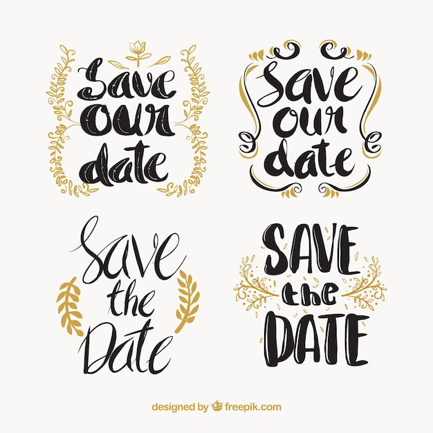 Fun wedding labels with classic style
