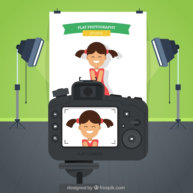 Fun фотосессии Бесплатные векторы