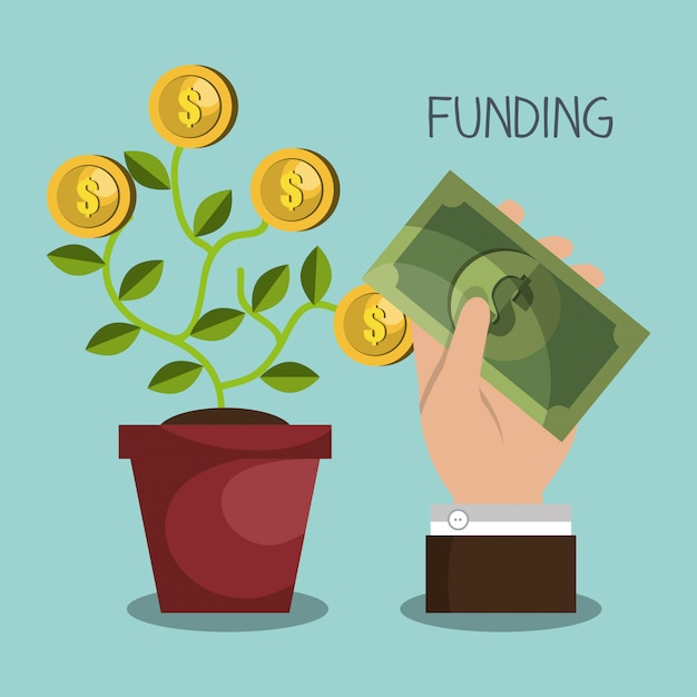 Funding concept Free Vector