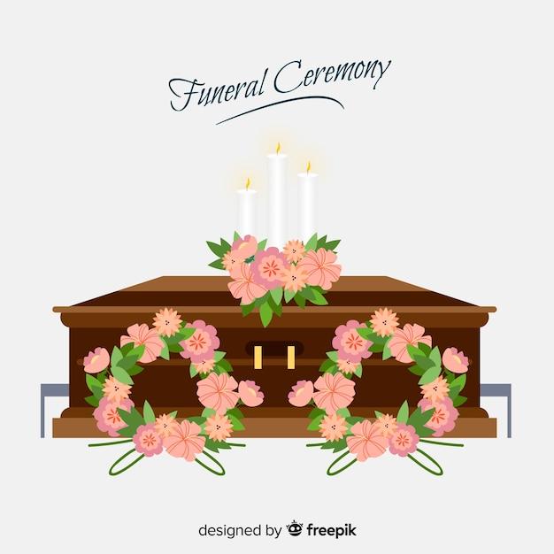 Sfondo cerimonia funebre Vettore gratuito
