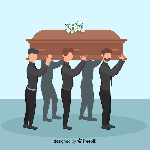 Funeral ceremony background Free Vector