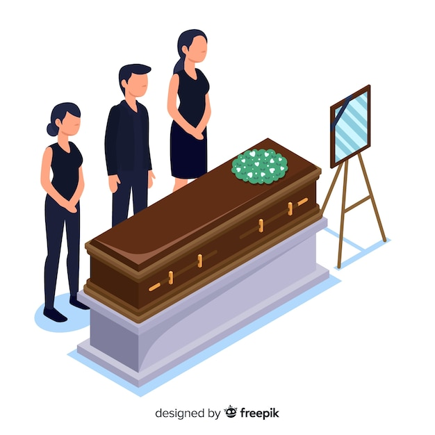 Funeral ceremony Free Vector