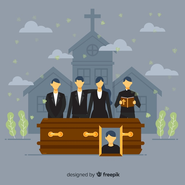Funeral parlour Free Vector