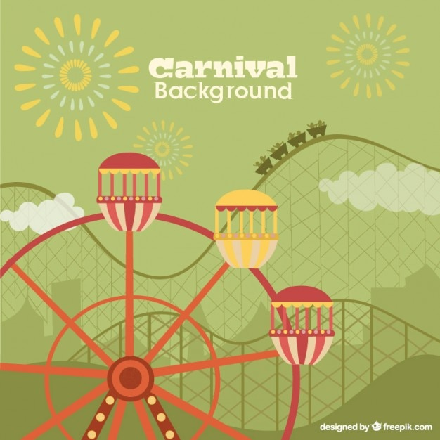 Funfair flat background Free Vector