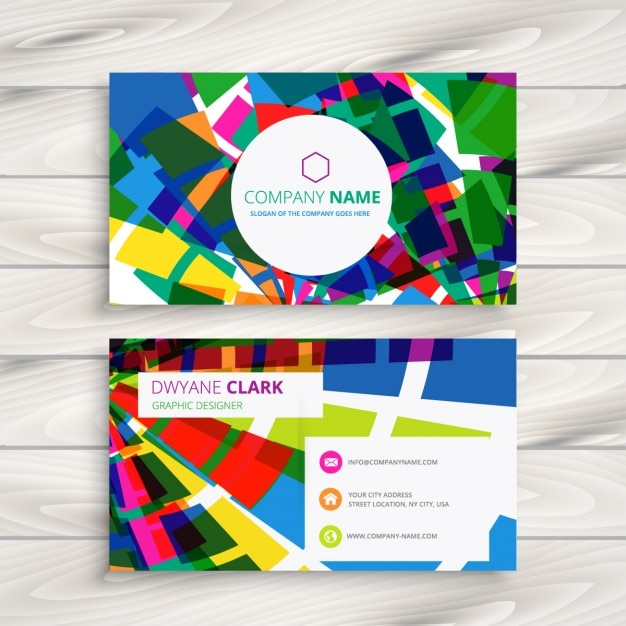 Funky Business Card Vector Free Download