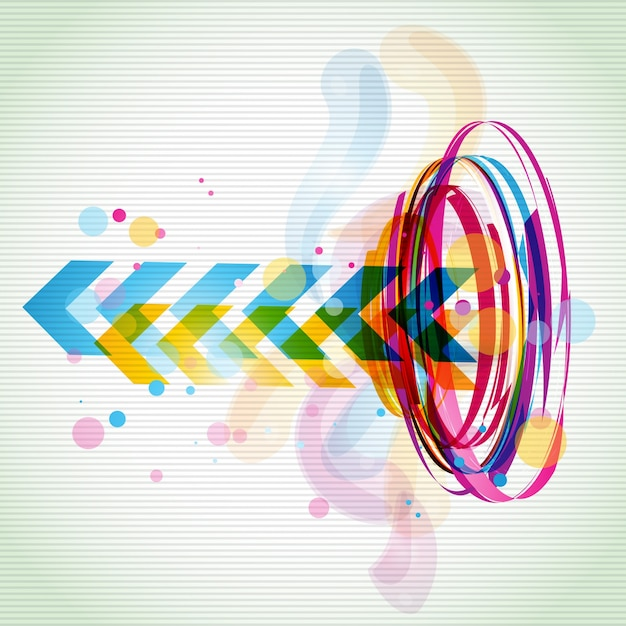 Funky colorful arrow background Vector | Free Download