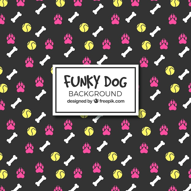 Funky dog background Vector | Free Download