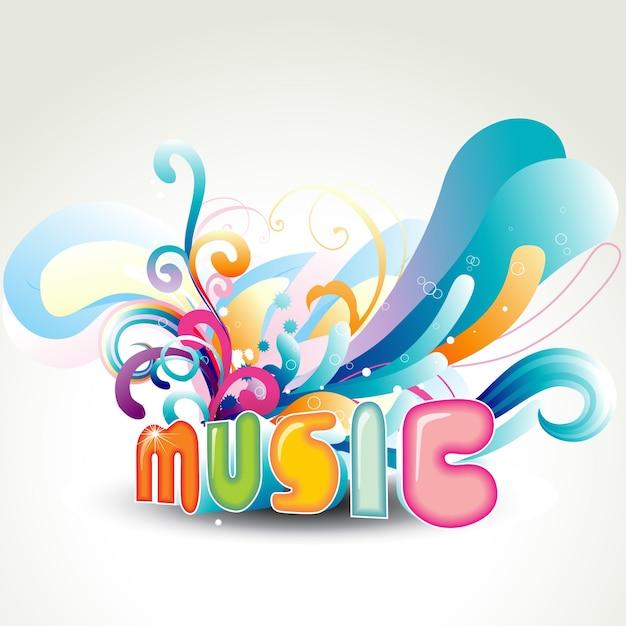 Funky music background Vector | Free Download