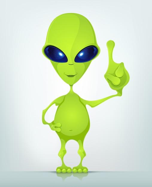Funny alien Premium Vector