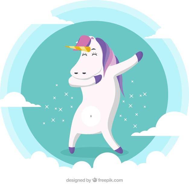 Funny animal doing movement dabbing Free Vector