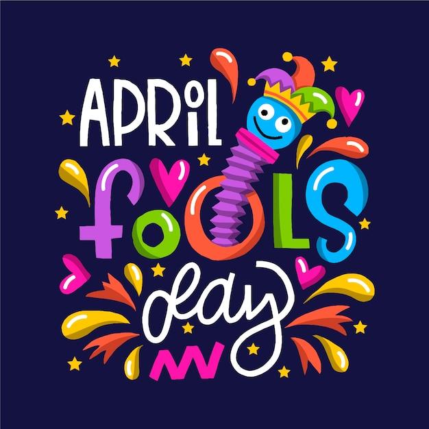 Веселый день дурака и детские игрушки Бесплатные векторы