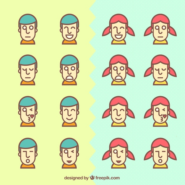 Funny avatars Vector | Free Download