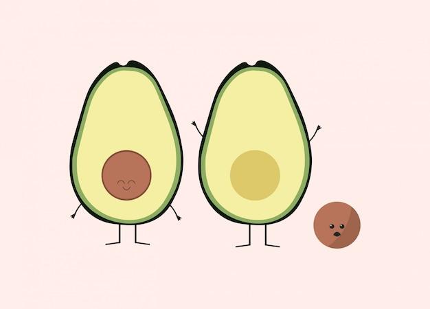 8a68549e Funny avocado design Vector   Premium Download