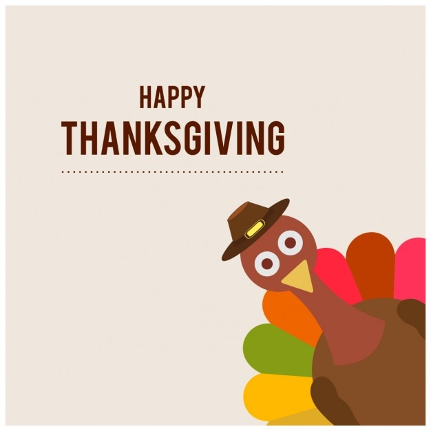 Funny background for thanksgiving day Free Vector