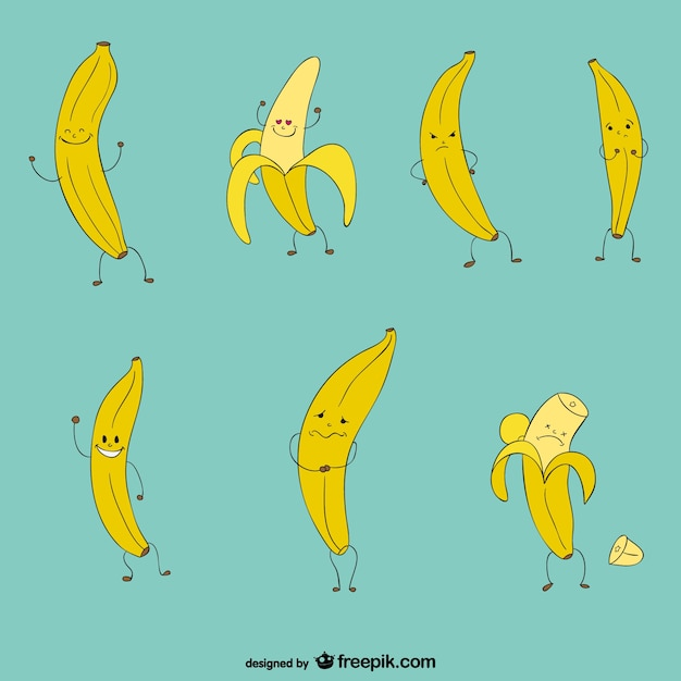 Funny Bananas Collection Vector Free Download