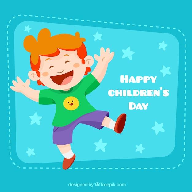 تصویر پسر خنده دار برای روز کودک