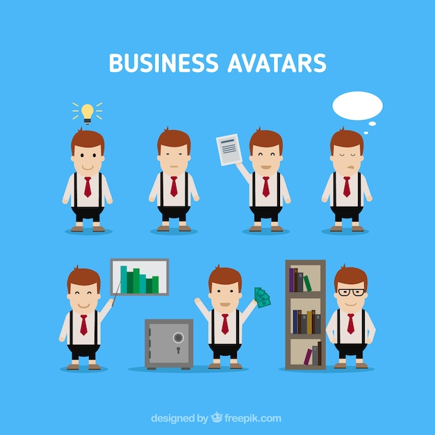 Funny business avatars pack | Stock Images Page | Everypixel