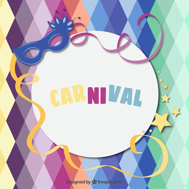 Funny Carnival Background Vector Free Download