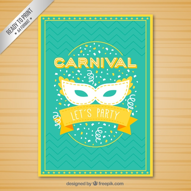 Funny carnival poster in vivid colors Vector | Free Download