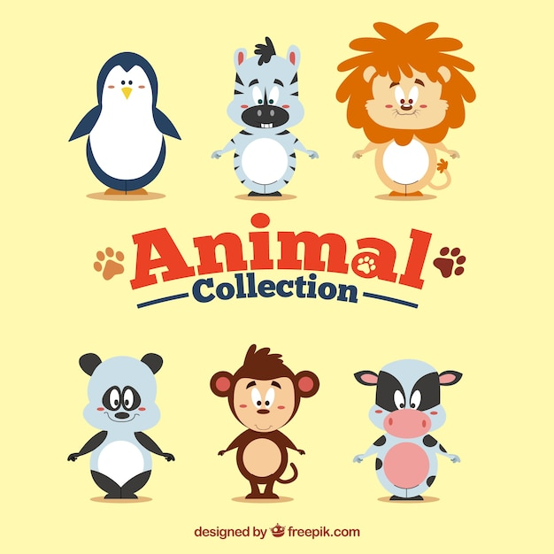 Funny cartoon animal collection