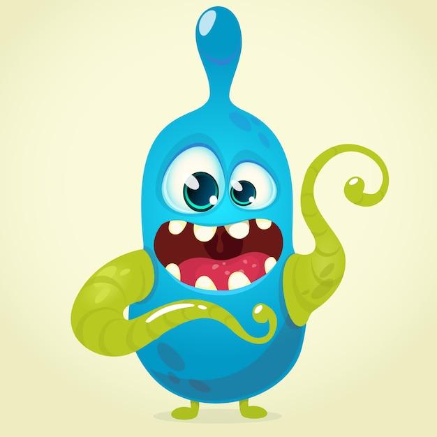 Funny cartoon monster. halloween Premium Vector