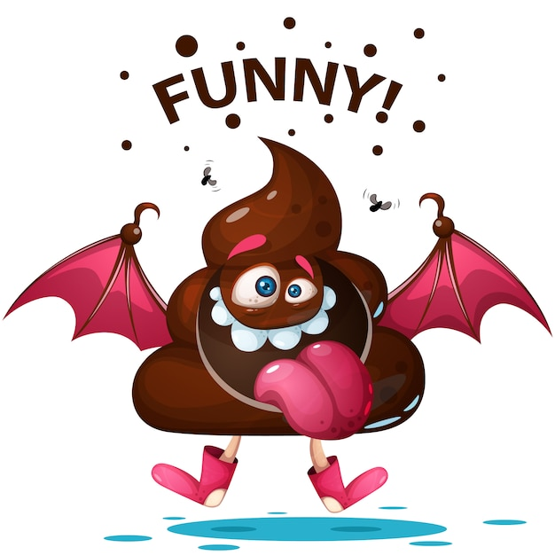 Funny cartoon Premium Vector