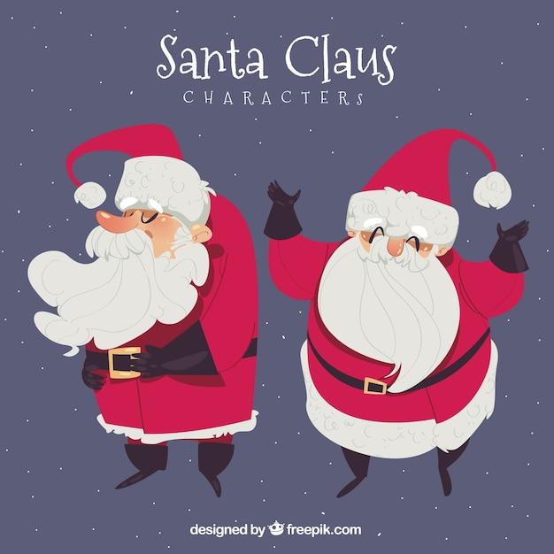Funny character of santa claus