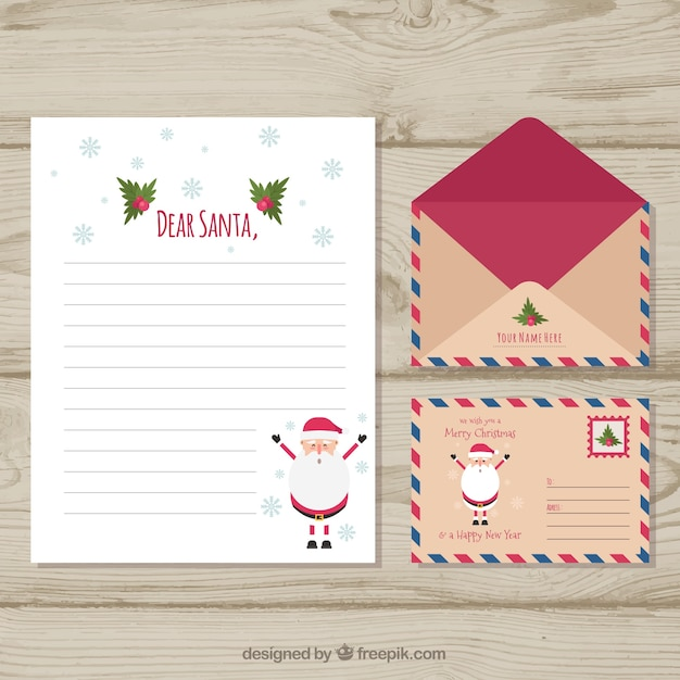 funny christmas letter template free vector
