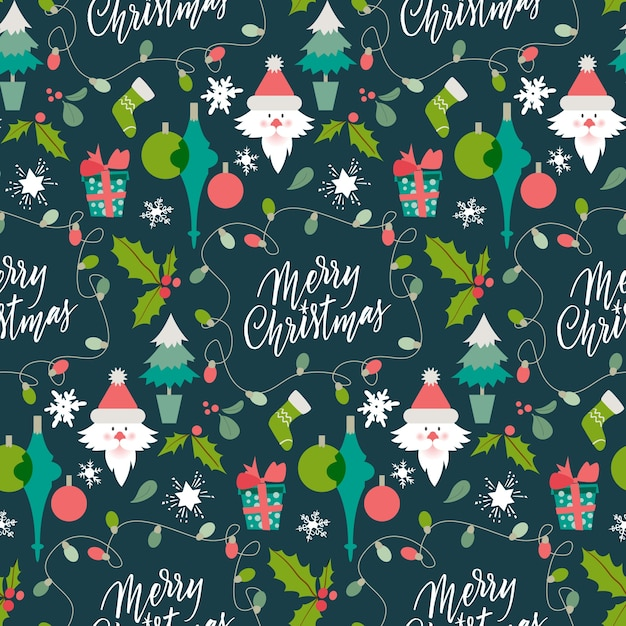 Funny christmas pattern background Vector   Free Download