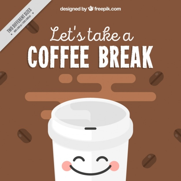 Funny Coffee Background Vector Free Download