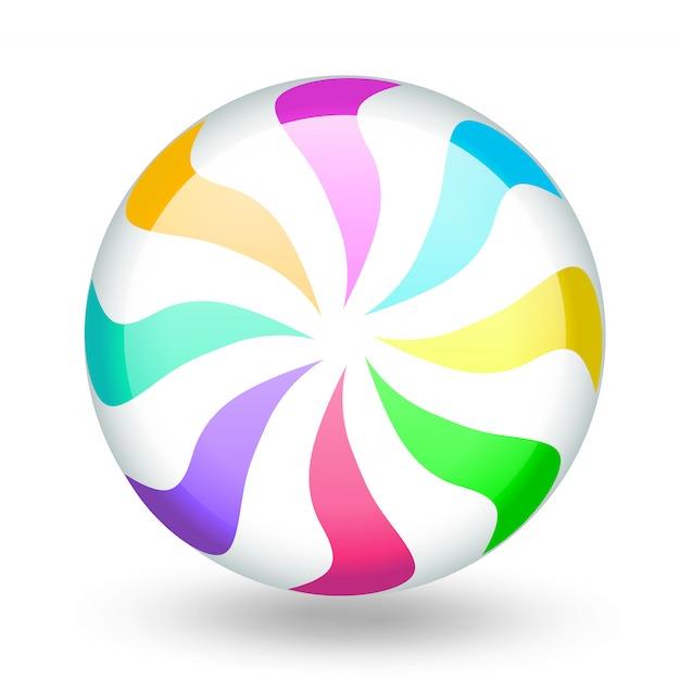 Funny colorful candy lollipop cartoon. Premium Vector