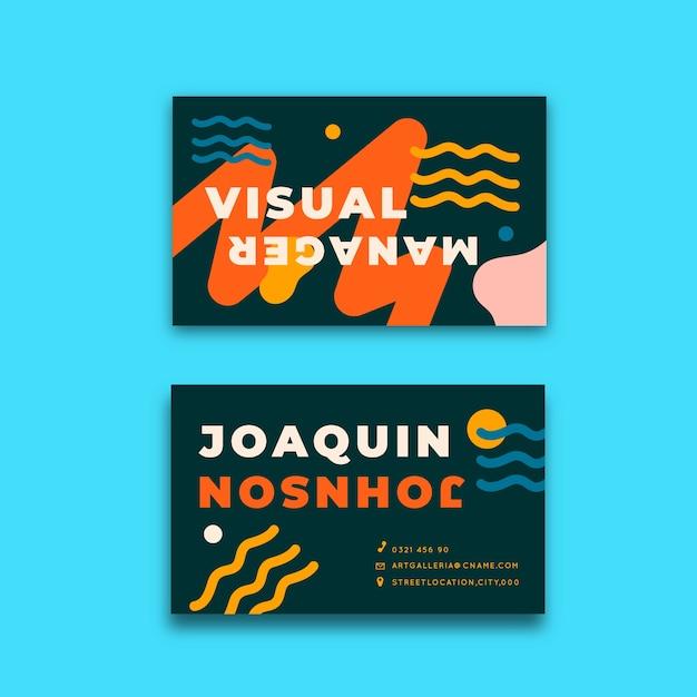 Забавная концепция для дизайнерской визитки Бесплатные векторы