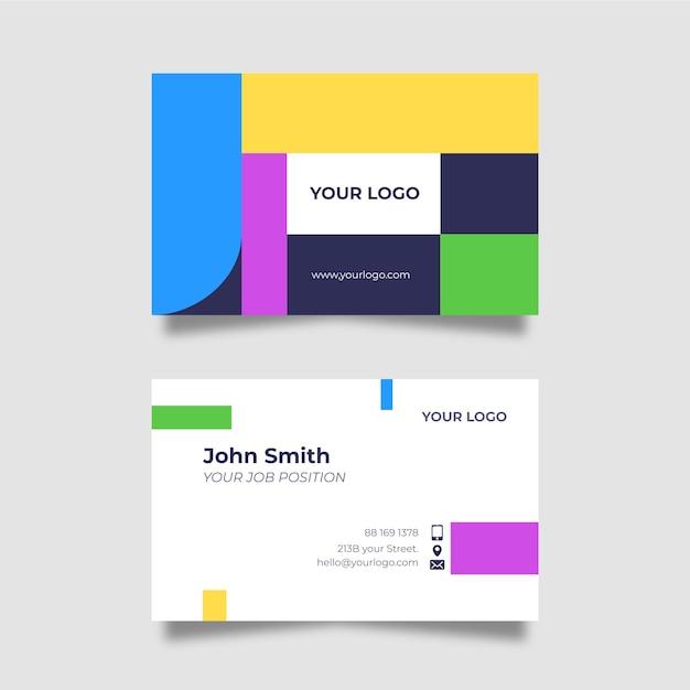 Забавный дизайн для шаблона визитной карточки компании Бесплатные векторы
