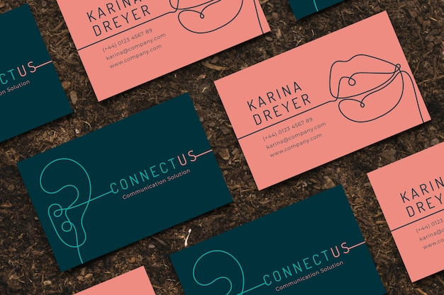 Funny designer business card template Free Vector